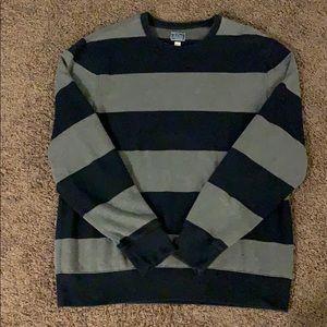 J Crew Fleece Crewneck Striped Sweatshirt XL